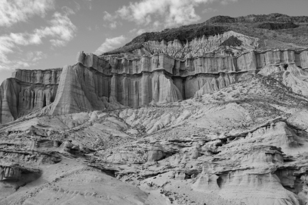black and white shot of Weston Cliffs