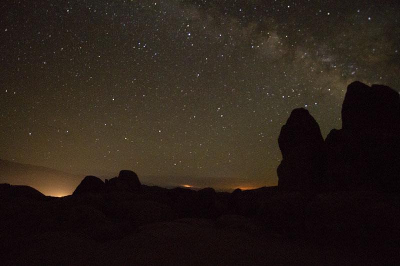 Night time sky with Milky Way in sky