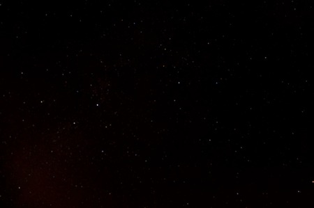 night sky with more stars showing