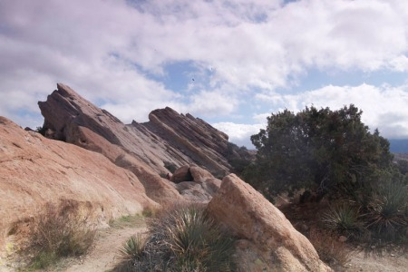 color shot of rocks at Vasquez  Rocks