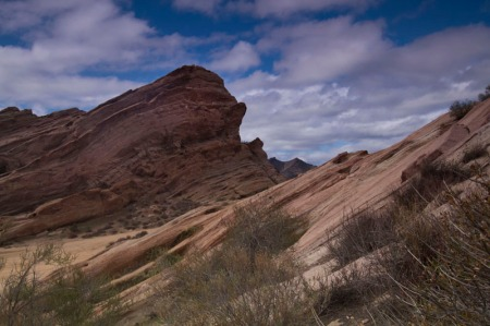 View of angular rocks at Vasquez Rocks