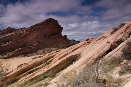 color shot of Vasquez Rocks