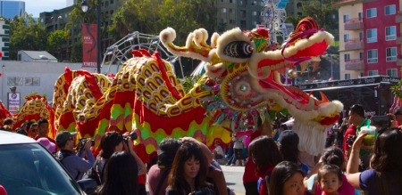 Dragon in parade