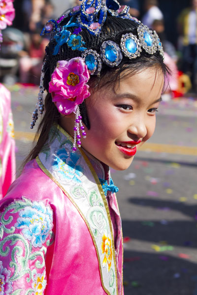 close up of young girl in Chinese costume