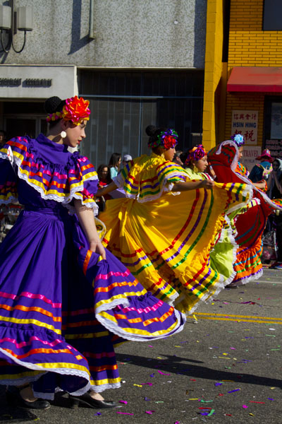 Spanish dancers in parade
