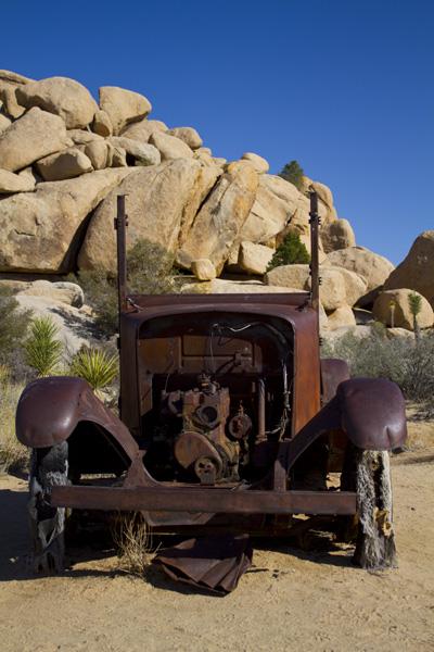 Old truck in desert of Joshua Tree N.P.