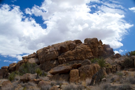 rocks and clouds landscape