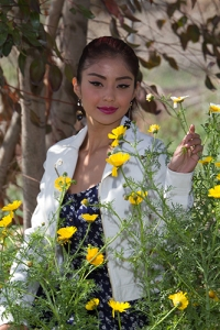 In the flowers. Model 2014