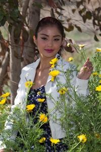 In the flowers. Model 2014