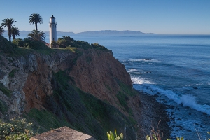 Point Vicente Lighthouse, Catalina Island in the distance. 2014