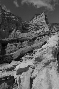 black and white landscape Red Rock Canyon