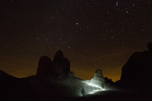 Trona Pinnacles light panting