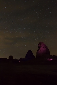 Trona Pinnacles night photography light painting