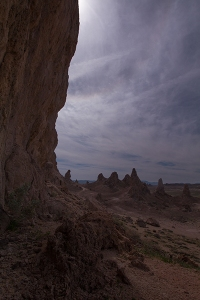 Scenic Trona Pinnacles landscape