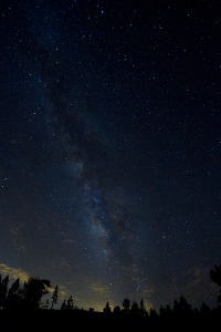 Milky Way shot from Mt. Pinos. Aprox 8,000ft. White balance pushed cooler.