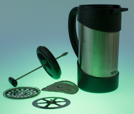 Thermos Stainless steel French Press for camping