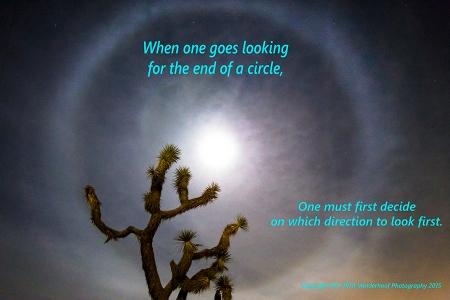 May you all Find the end of your circles.........