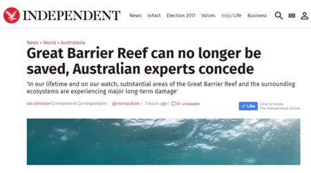 20170530 Great Barrier Reef dying NO SAVING IT