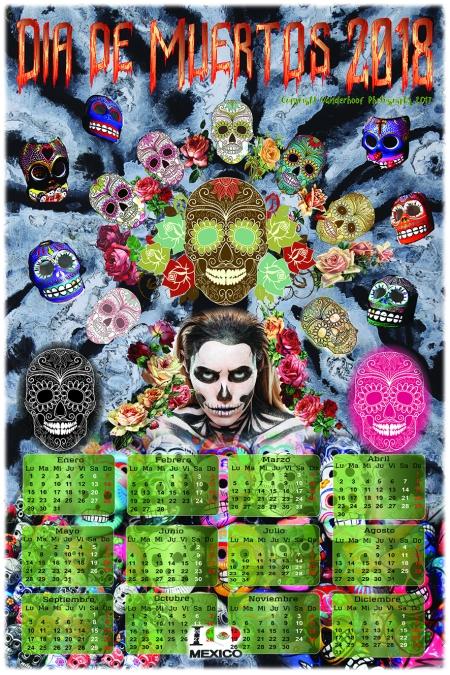 2018 Dia de Muertos Calendar_FB