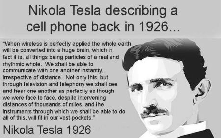 Tesla & cellphone