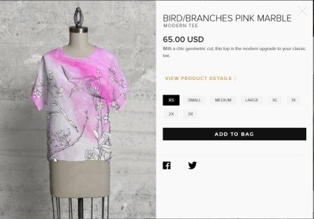 20171223 Bird-Branch-Pink Marble