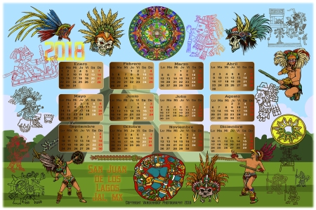 2018 Mexican Aztec Calendario_02FB