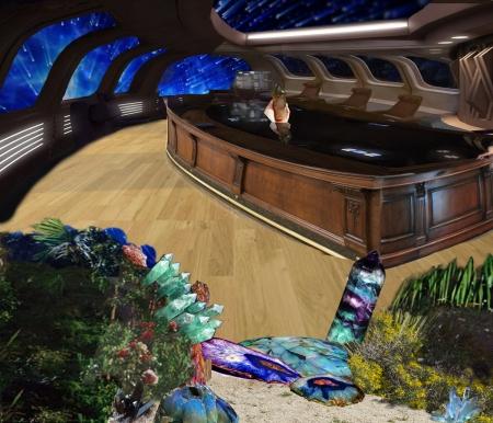 Realistic Space Scene