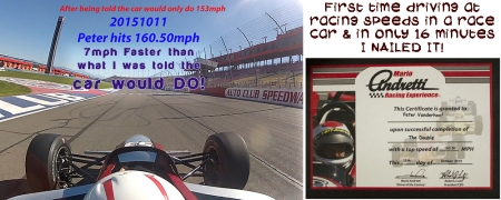 20151011 Peter drives Indy car A-PracticeCertificate